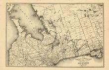 Ontario Province - Railway and Postal Map 2, Oxford County 1876