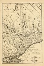 Ontario Province - Railway and Postal Map 3, Oxford County 1876