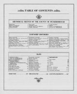 Table of Contents, Peterborough Town and Ashburnham Village 1875