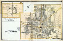 Guelph City Ontario Agricultural College And Vicinity Atlas - Guelph map
