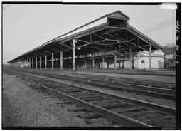 3/4 View Of Trainshed Looking Southeast