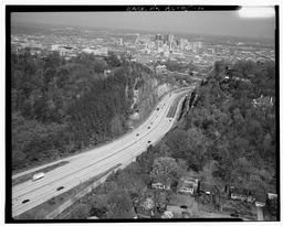 Aerial View Looking Northwest Along Red Mountain Toward The Birmingham City Center With U.s