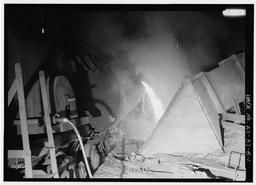 Interior View With Torpedo Ladle Transfer To Mixer., U.S. Steel, Fairfield Works, Q-Bop Furnace, North of Valley Road & West of Ensley, Pleasant Gr, Fairfield, Jefferson County, AL