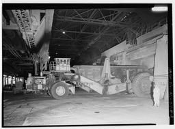 Interior View With Scrap Hauler Dumping Scrap (c, U.S. Steel, Fairfield Works, Q-Bop Furnace, North of Valley Road & West of Ensley, Pleasant Gr, Fairfield, Jefferson County, AL