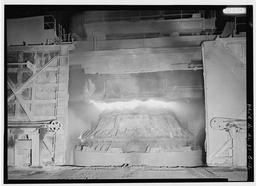 Interior View Showing Q-bop Furnace In Blow, U.S. Steel, Fairfield Works, Q-Bop Furnace, North of Valley Road & West of Ensley, Pleasant Gr, Fairfield, Jefferson County, AL