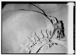 Interior View Showing Q-bottom Furnace Bottom Being Welded., U.S. Steel, Fairfield Works, Q-Bop Furnace, North of Valley Road & West of Ensley, Pleasant Gr, Fairfield, Jefferson County, AL