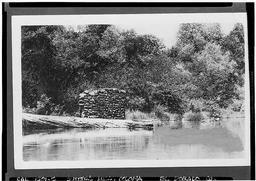 Historic American Buildings Survey Wells Fargo Bank Historical Museum San Francisco Original: Re-photo: August 1940 Now Submerged By The American River, Sutter's Mill, American River (submerged), Coloma, El Dorado County, CA
