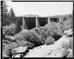 View Looking Upstream And Slightly West Showing Center Section Of Dam.