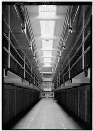 View Looking South Between Cell Blocks