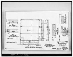 Photocopy Of Drawing 99-a-1, Granite Works For Fire Engine House, August 1899
