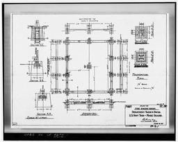 Photocopy Of Drawing 99-s-1, Fire Engine House, Foundation Plan, March 1900