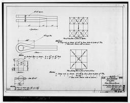 Photocopy Of Drawing 99-s-8, Shop Drawing, Sway Rods For Fire Engine House, June 1900.