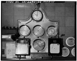 Photograph Of Brass Status Gages Now In The Dispatch Office, First Floor.