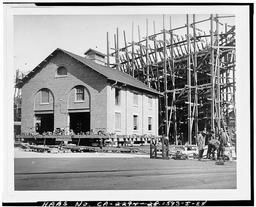 Photocopy Of Photograph Showing Start Of Relocation Of Building 99