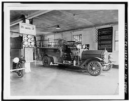 Photocopy Of Photograph Of Interior Showing Period Fire Engine, Bank Of Gages And Other Details
