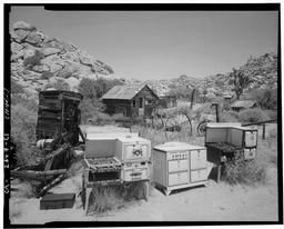 View Looking Northeast At Guest House With Stove Collection In Foreground