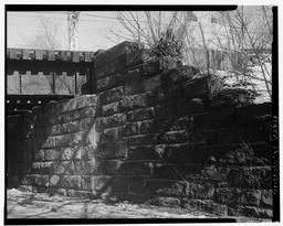 View Northeast, East Abutment, Detail