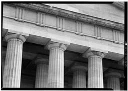 Detail, South Front, Portico, Column Capitals