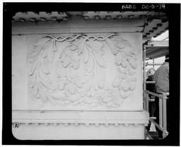 Detail Of South Entablature Frieze (typical Wreath #3)