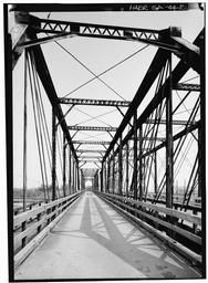 Detail View Of Closed Roadway On Left Section Of Bridge Looking South