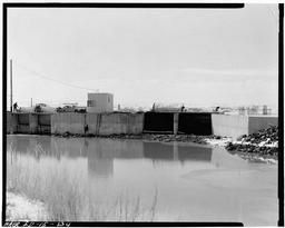 Forks Diversion, High Line And Low Line Canals, Twin Falls County, South Of Hansen, Idaho; View Of Low Line And Power Gates, West View.