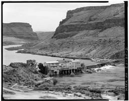 Telephoto View Of Swan Falls Dam And Snake River Canyon, Looking Upstream To South And East From One-third Of The Way Up The Canyon Road