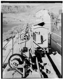 Detail View Of Spillway, Showing Gate Opening Mechanism, Looking Approx