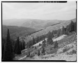 View Of Empire Mine Area With Tailings, Ore Chute, And Collapsed Buildings Visible, And Bare Switchback Hillside From Which #4, #5 And #6 Were Made