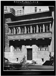 Historic American Buildings Survey Cervin Robinson, Photographer August 1963 West (front) Facade, Balcony Detail