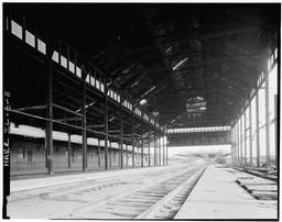 View Looking South, Interior Of Central Shed With Eastern Wing Still Standing, Western Wing Demolished