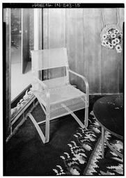 First Floor, Detail View, Historic Chairs Original To The House Of Tomorrow At The 1934 World