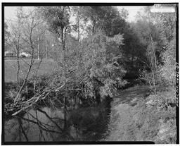 A Photograph Of Haw Creek Taken From The Bridge Roadway, Looking North