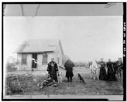 Photocopy Of Historic Photograph, Photographer And Date Unknown: Early Area Homestead