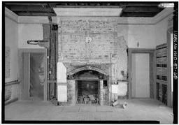 Reception Room (southwest): View Is To East, Fireplace Wall, With Scale