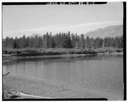 View Of West Dam At Lowered Lake Level, Looking West