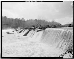 View Of Falls At Dam From North Bank Of Deep River