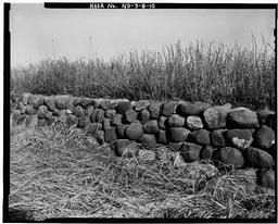 Detail View Of River-cobble Weir Wall Of The Spillway Near The East End, Dam 87, Looking Northwest