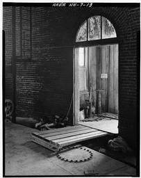 Interior View Looking From Inside Gasholder House Through Doorway To Valve House.