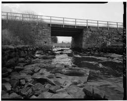 View Of Retaining Walls And Abutments, Showing River Course At Low Tide, Looking West