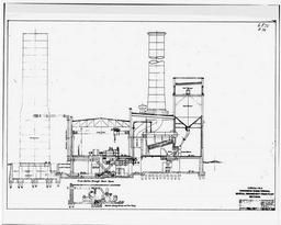 Cross Section Through The Power House, From Construction Drawing 2042-f-23, Entitled General Arrangement Of Power Plant, Sections