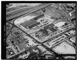 Aerial Photograph Showing The Grounds Of The Gas Light Company From The East.