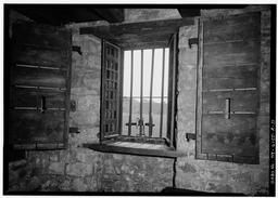 Interior First Floor, Barracks Room, Detail Of Barred Window