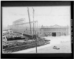View, Looking Southeast, Of Gallery D Under Erection March 20, 1922 (original Negative Destroyed; Print In Barge Canal Construction Photographs, Box 12, Series 501, Accession No