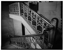 Historic American Buildings Survey, Martin Linsey, Photographer February 28, 1966 Stairway In Northeast Corner Of Interior.