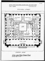 Historic American Buildings Survey, Site And First Floor Plan.