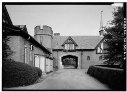 View Of Passage, East Side, Stan Hywet Hall, Carriage House & Garage, 714 North Portage Path, Akron, Summit County, OH