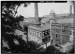 Complex From Southeast; Building 2 To Left, Buildings 6 And 1 In Center, Warehouse In Right Foreground, Bay State Building In