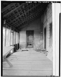 Coffey House, Interior Of Porch, View To West