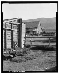 Detail With Barn In Center Background, View To Northeast.
