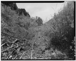 View Showing Rock Slide Covering Track About 1/2 Mile Southwest Of Vivian Park, Looking Southwest